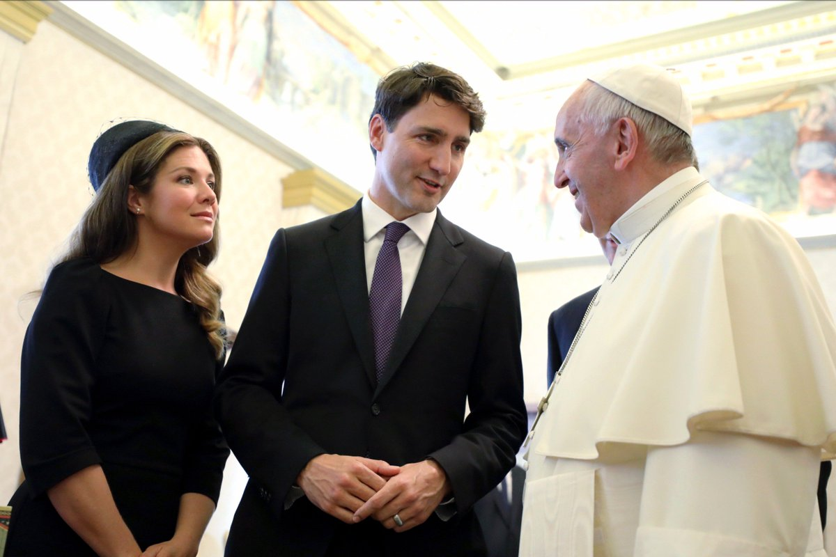 At the Vatican today, meeting with Pope Francis to talk about climate change, migration and reconciliation – it was an honour.