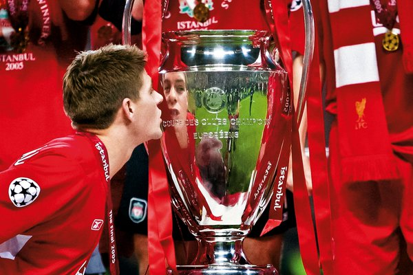 37th Birthday to Steven Gerrard legend LFC of Steven Gerrard captain 2005 UEFA Champions League