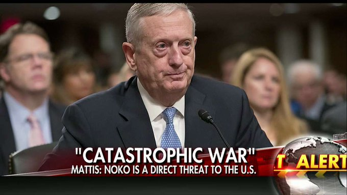 North Korea threat: Mattis says war with isolated nation would be 'catastrophic'  https://t.co/FWjxnooB1m