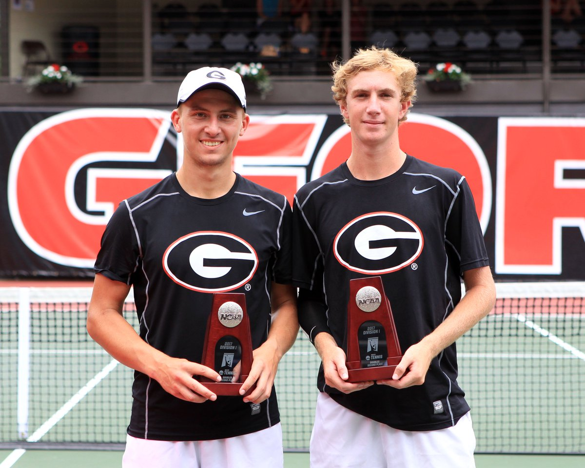 Robert Loeb and Jan Zielinski - UGA Men's Tennis Team (Photo from Georgia Tennis/Twitter)