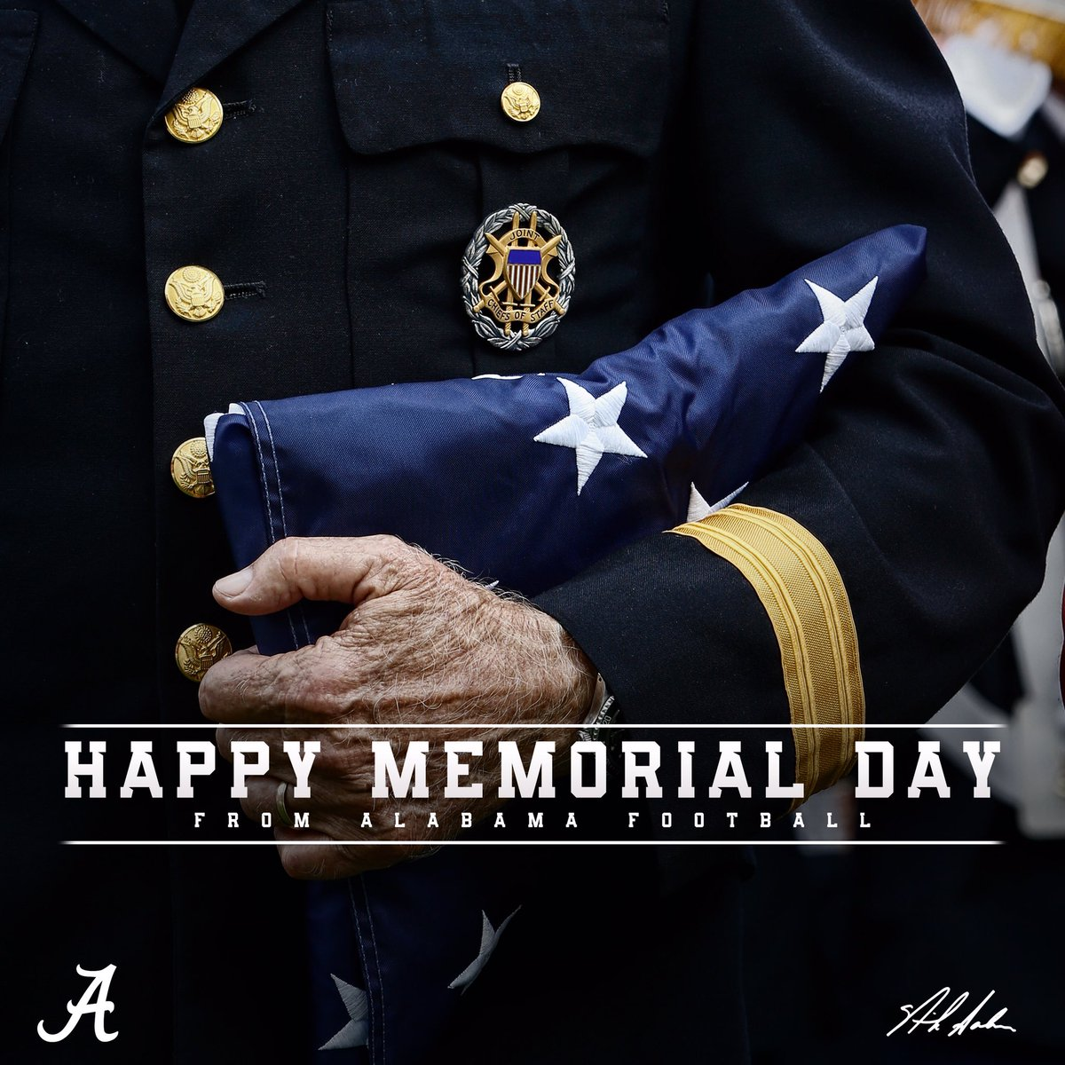 Honoring those who gave their all. Happy Memorial Day from the Alabama...