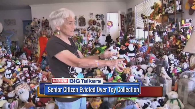 Woman claims she was evicted for her large toy collection https://t.co/rIrjtgecCp