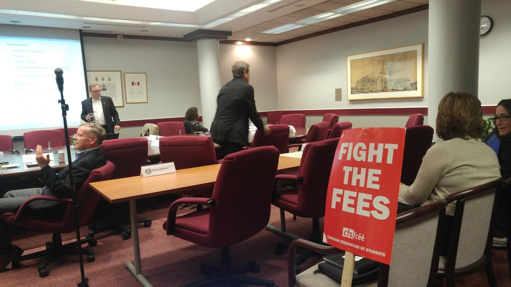 The @SFUO_FEUO is at the BOG meeting as well #UOBudget https://t.co/huUtZ1pCfS