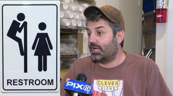 'Peeping Tom' bathroom sign at Park Slope coffee shop comes down after sparking controversy https://t.co/Elh1AFx6KK