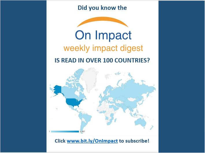 """""""Required weekly reading"""" Thanks @marknewberg! Subscribe to #OnImpact today:  http:// bit.ly/OnImpact  &nbsp;   #impinv #socent<br>http://pic.twitter.com/q6DxV7Pn4j"""