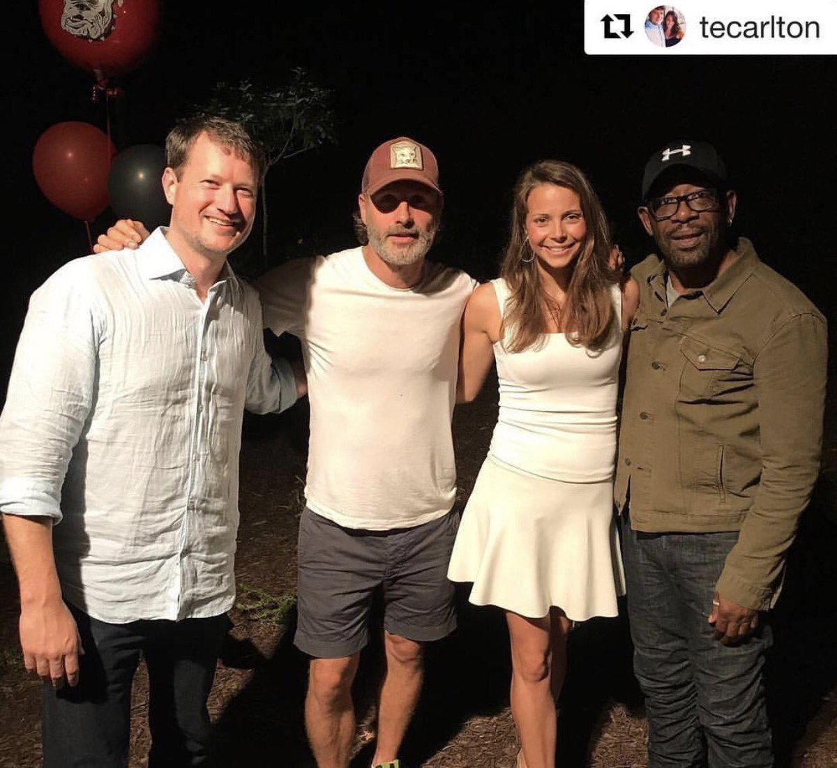 Evening  Andy and Lennie celebrate Chandler&#39;s High School graduation! #TWDFamily   IG: tecarlton  #AndrewLincoln #LennieJames #TWD #mcm<br>http://pic.twitter.com/sN79CO5ZZG