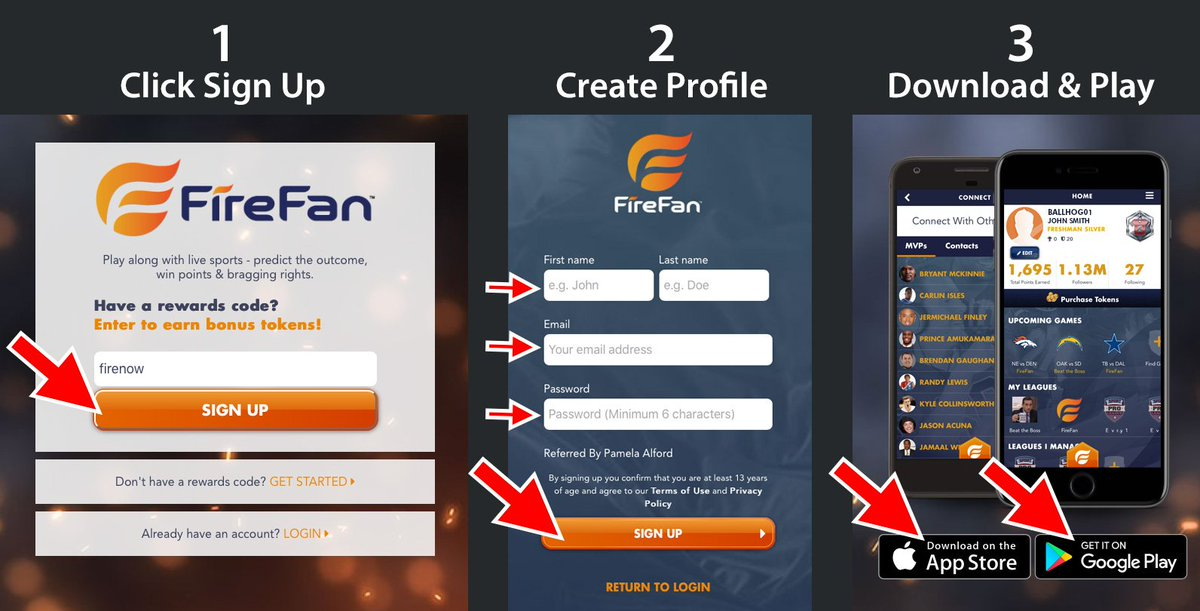 Play FireFan Predict Plays earn points and game tix LIVEAPP #NBA #NFL...