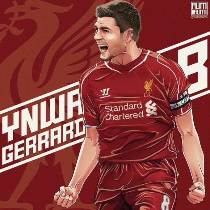"Happy Birthday Legend No.8 \""Steven Gerrard\""     [Photo."