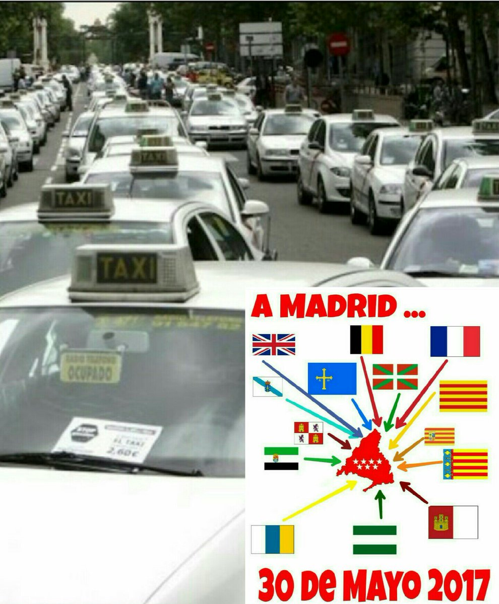 FULL SUPPORT from Paris to the #Taxis of Spain &amp; all across Europe fighting Uber  #Madrid 30/05/2017 <br>http://pic.twitter.com/ptmqpAv2Bh