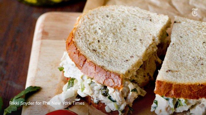 A lighter, tangier chicken salad sandwich https://t.co/1txPe2TnP4 via @nytfood