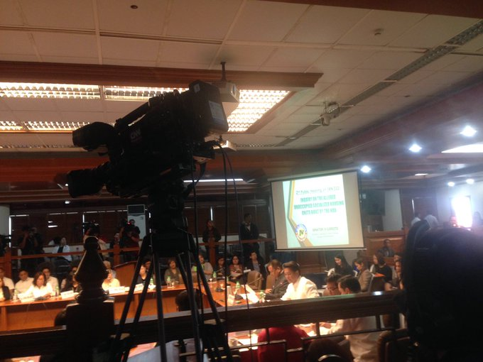 Happening now: Joint Senate-House hearing on the aleged illegal occupation of NHA housing units. | @sherieanntorres