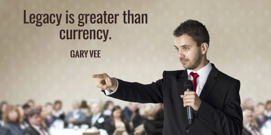 Legacy is greater than currency. - Gary Vee #quote <br>http://pic.twitter.com/pzfWUX3wAr