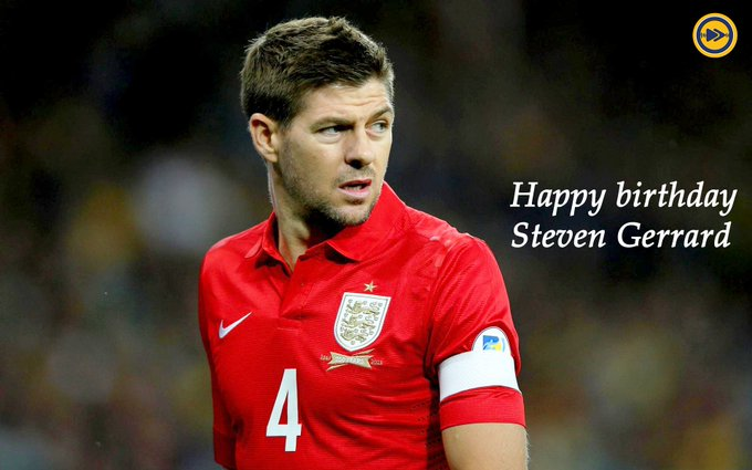 Happy birthday to the one and only Steven Gerrard!!!