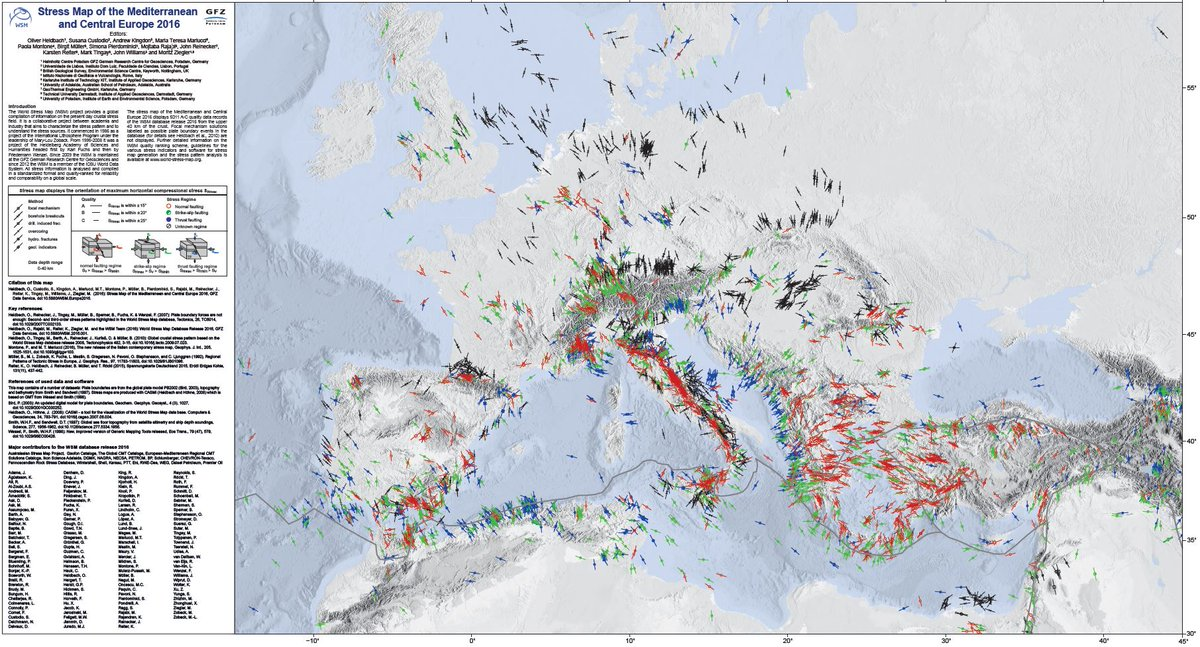 Map Europe 2016.World Stress Map On Twitter Stress Map Of The Mediterranean And