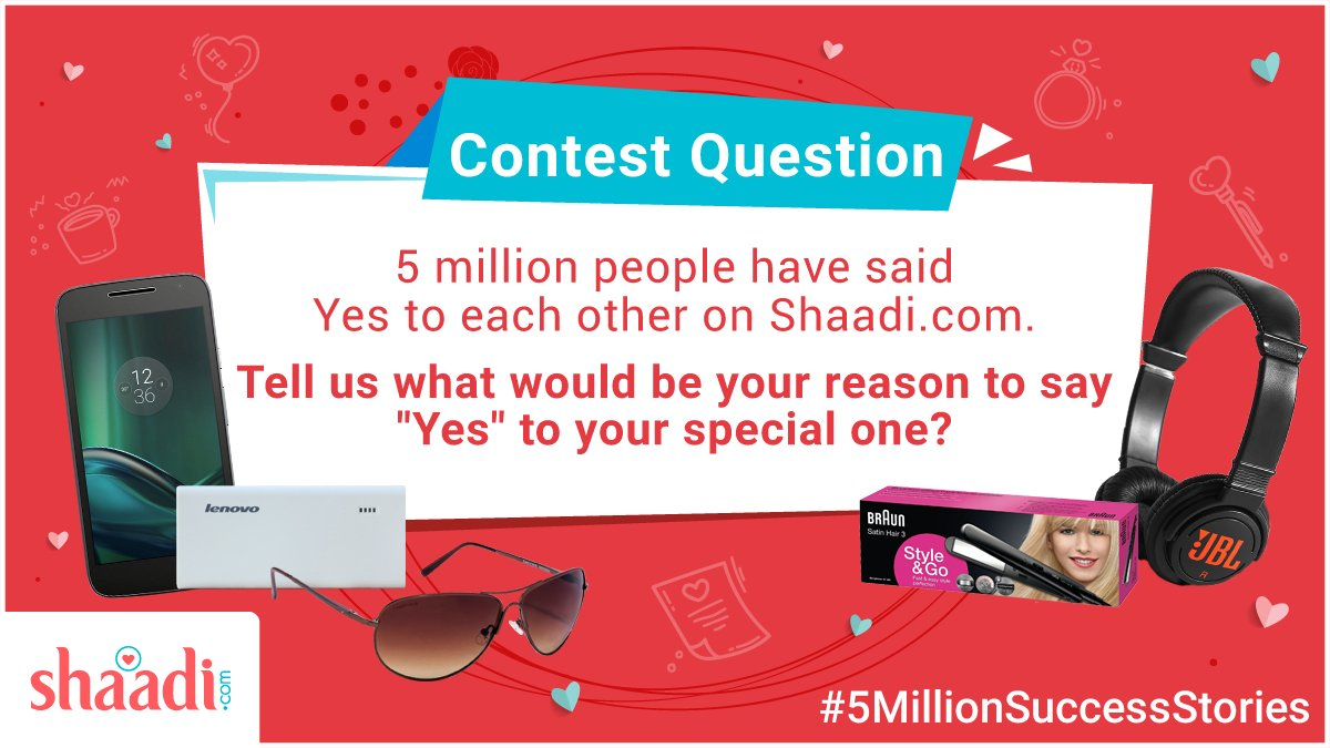 #RT  We have always dreamed about our life partner. Share it with us and WIN big! ☺️ #5millionSuccessStories https://t.co/KCaPu57AME