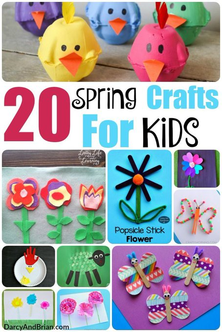 20 Spring Crafts For Kids » Life With Darcy and Brian