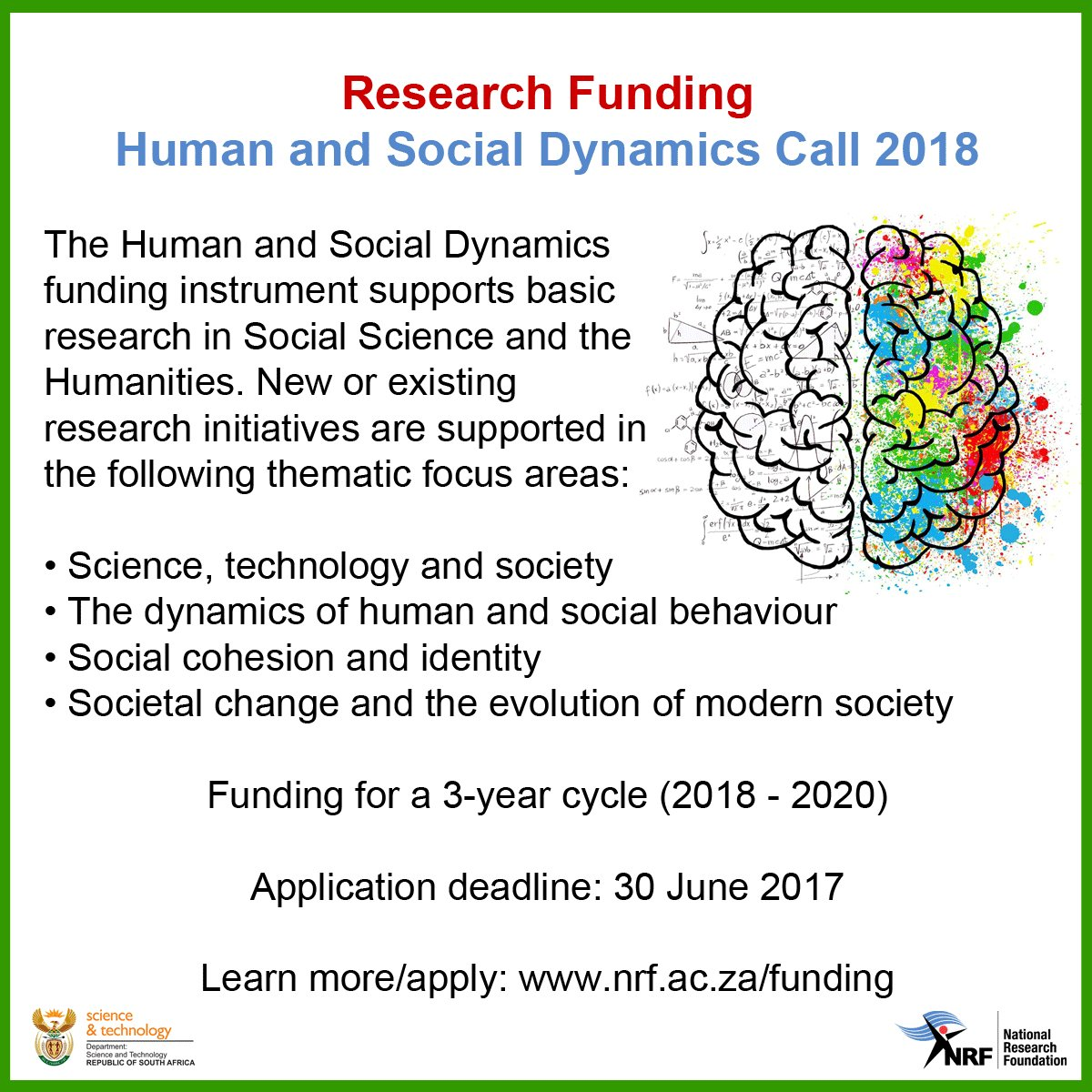 #Research #Funding: Human and Social Dynamics 2018. Learn more/apply:  http:// bit.ly/2qqaXw8  &nbsp;   #SocialScience #Humanities<br>http://pic.twitter.com/5ZvWy8oXP7
