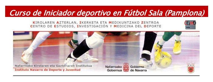 Desde La Banda - Fútbol Navarro Curso de iniciador deportivo en fútbol sala en Pamplona