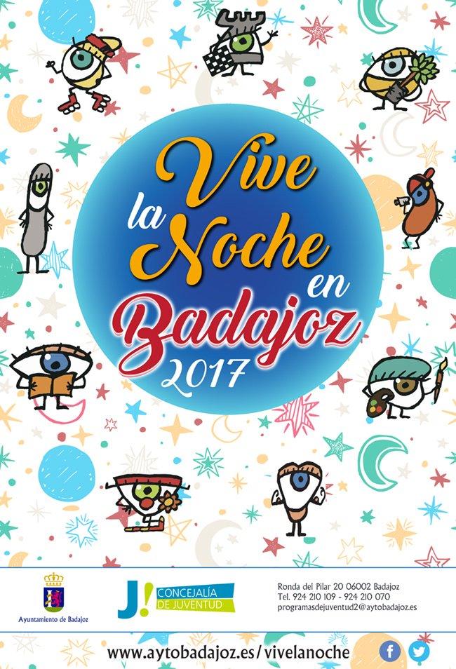 """Comienza la XVII edición del Programa """"Vive la Noche en Badajoz 2017"""" de @JuventudBadajoz https://t.co/pFI3UsiIqw https://t.co/sSwrbK3kog"""