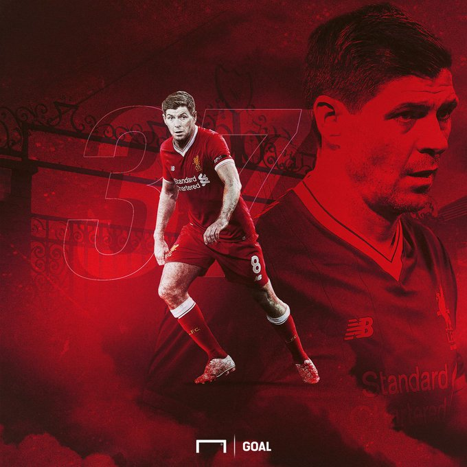Happy birthday to Liverpool FC legend,  Steven Gerrard!