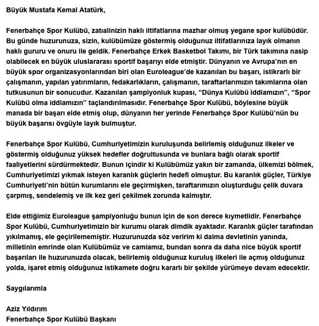 12 Numara Evdekal On Twitter Baskanimiz Aziz Yildirim In