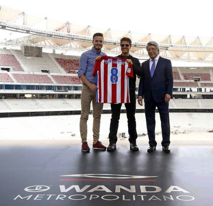 Unforgettable experience in Madrid meeting with @saulniguez and the President of @Atleti, Enrique Cerezo. https://t.co/hDgA8Ao4GO