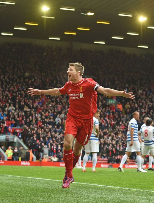 Happy birthday Captain Fantastic STEVEN GERRARD! Oh how we wish you were still playing alongside the Reds! YNWA!