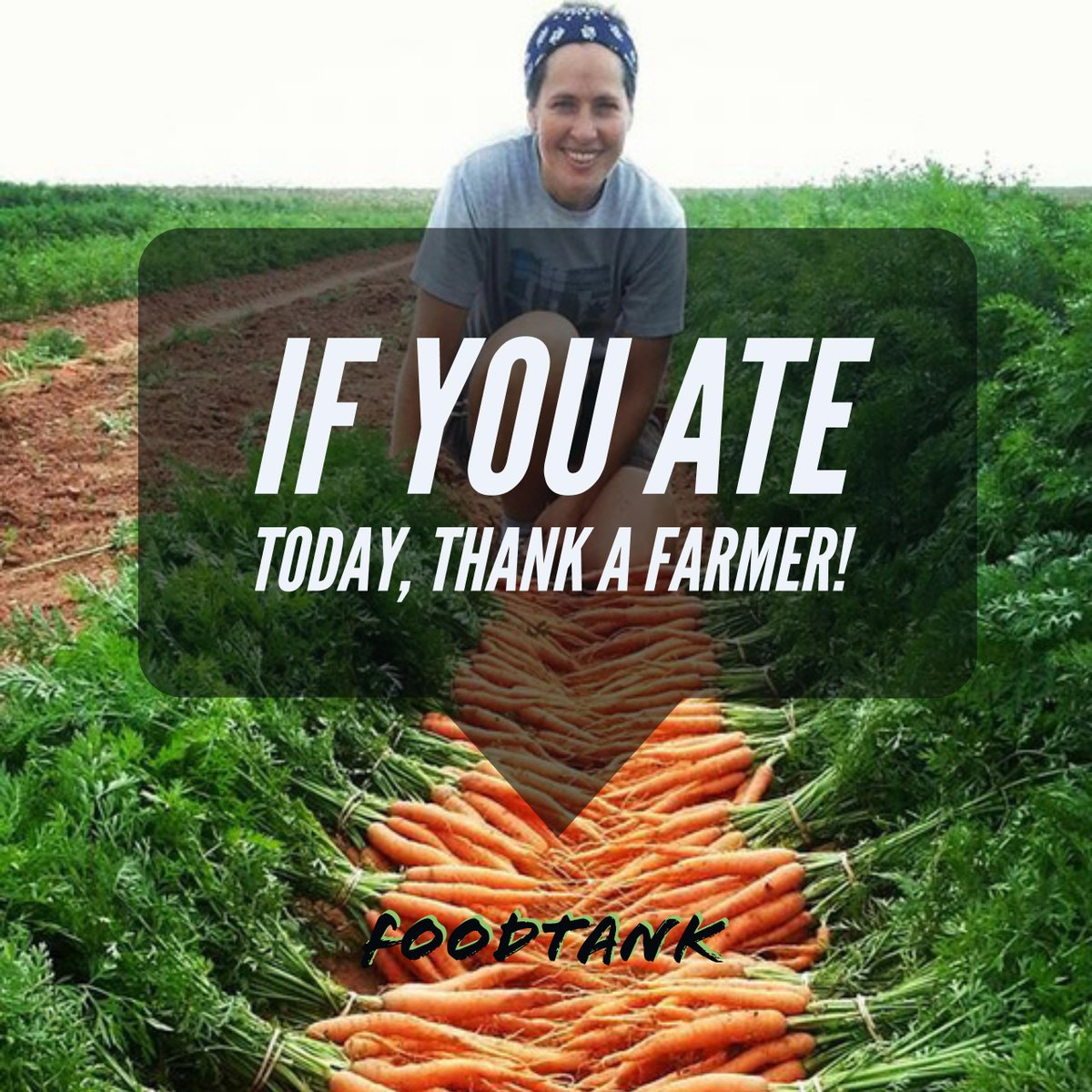 If you ate today, thank a farmer AND share this tweet! #FoodTank https://t.co/6wZmkA9fjz