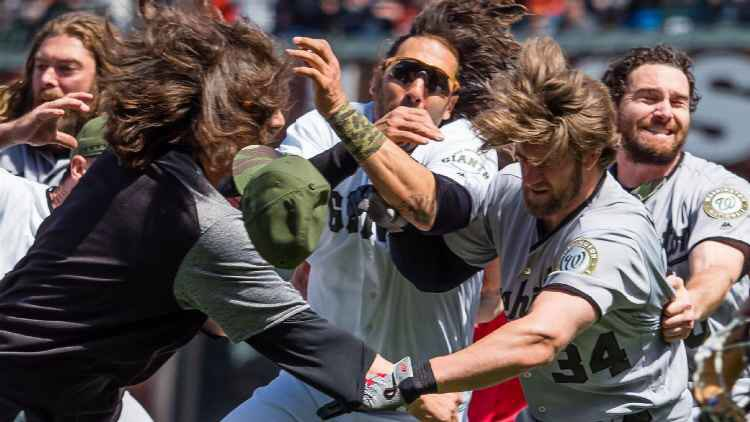 Is this a baseball fight or a Pantene Pro V commercial?  #Nats #Giants https://t.co/nH7yUYlwxw