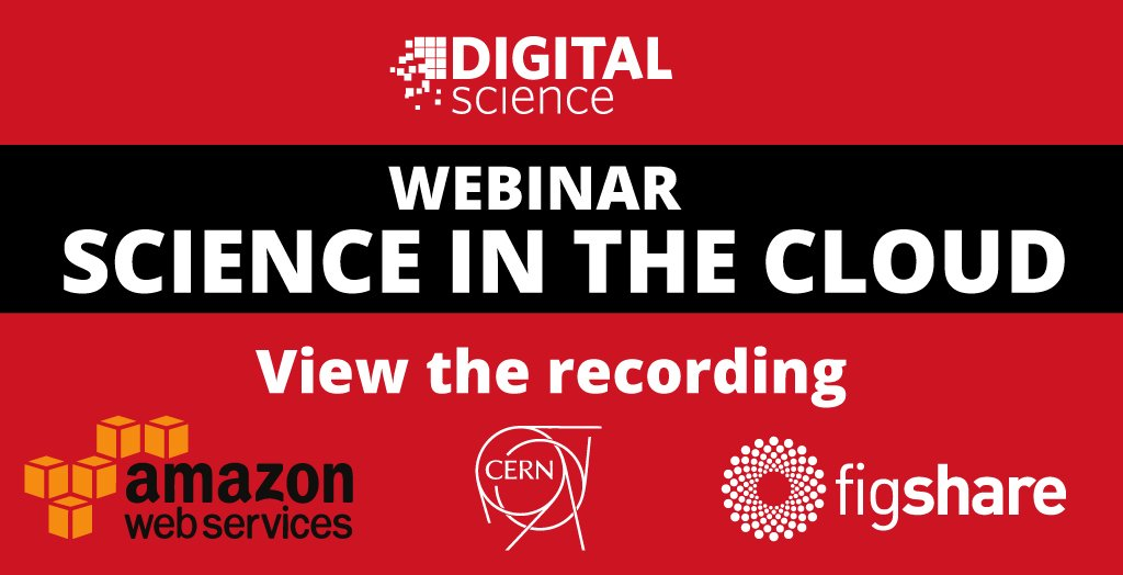 Learn about the future of science in the cloud from @awscloud @CERN @figshare https://t.co/hO89rpwOVS https://t.co/e2QRP13zGk