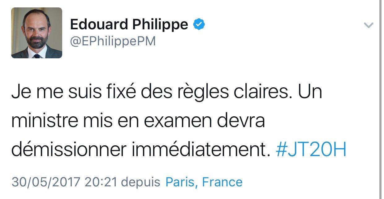 Comment ça ? Le père de la moralisation de la vie publique alias @bayrou va déjà devoir quitter son ministère ? ������ https://t.co/bYweRmhebr