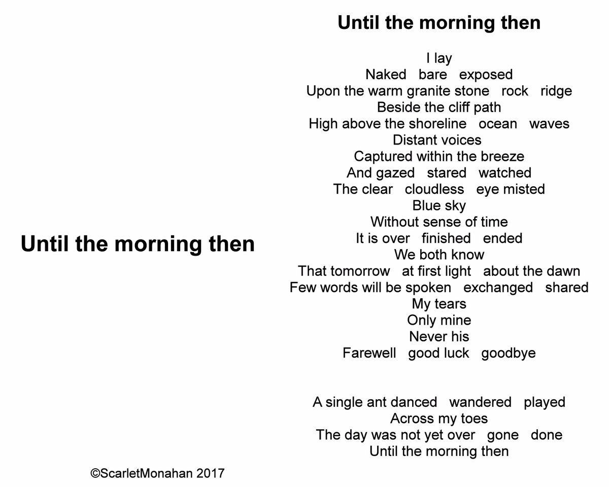 Until the morning then. https://t.co/e1loft68v0 #poetry #poet #Writer #book #art #music #spokenword #performance 80