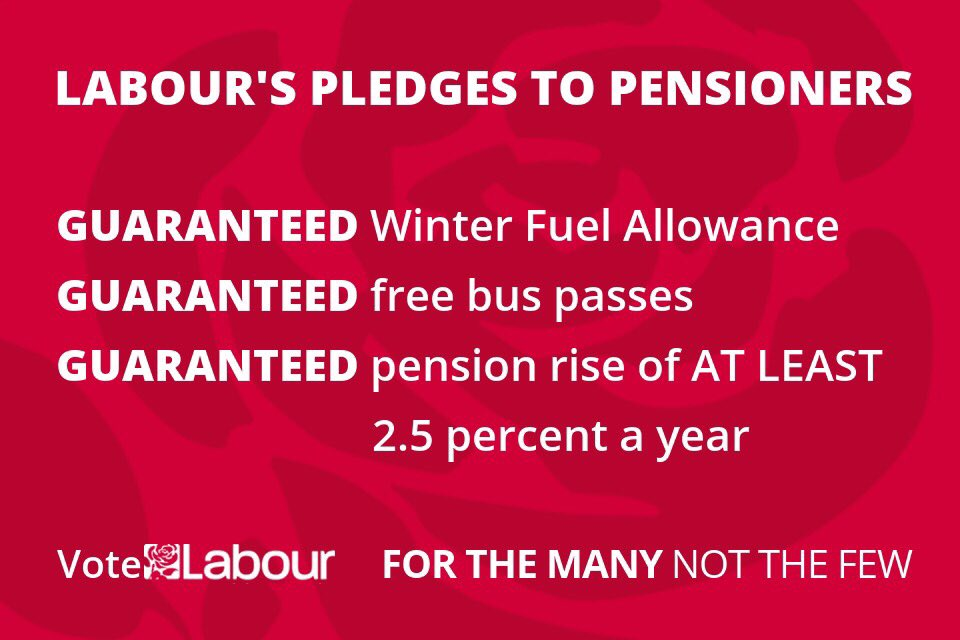 .@UKLabour's pledge to older people: your pension will rise by at least 2.5% a year, or more if inflation or earnings rise faster.