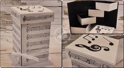 Caja organizadora desplegable hecha con cartón.