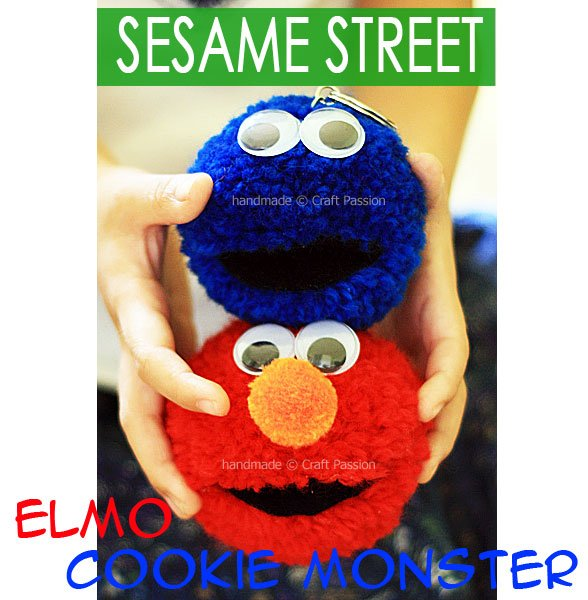 Pom Pom Elmo & Cookie Monster