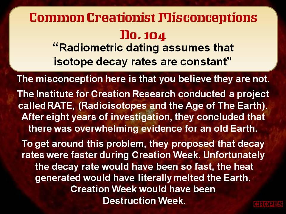 Radiometric dating answers