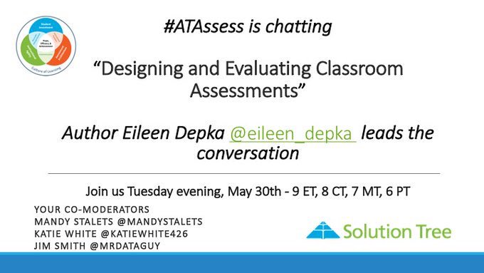 It's almost time! Join #ATAssess with @eileen_depka in 40 minutes! https://t.co/6yJdw2CJHS
