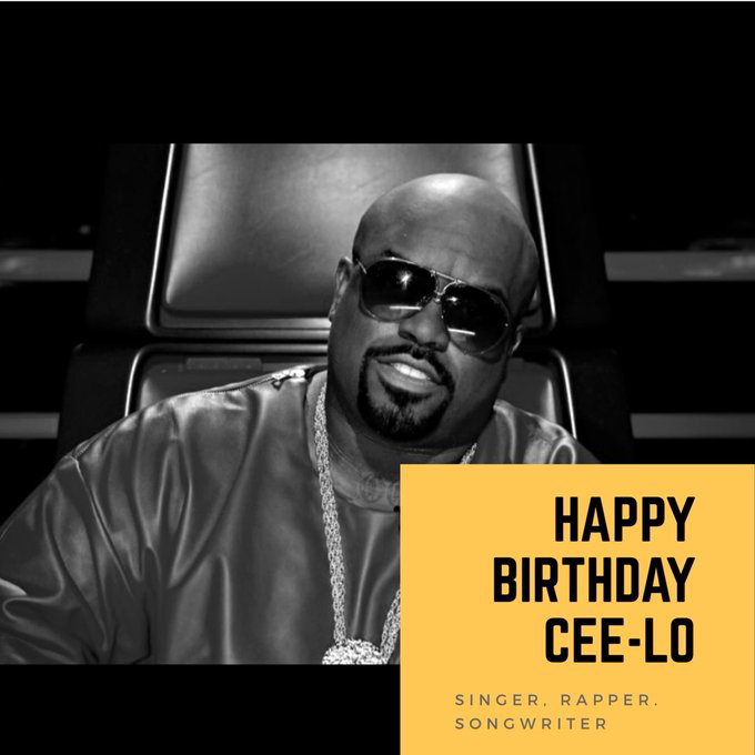 Happy Birthday CeeLo Green! Mad respect to the singer, songwriter, rapper, producer.