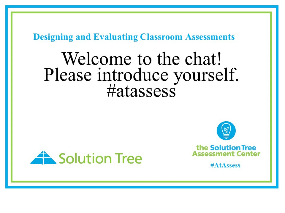 Welcome to the chat! I'm excited about the upcoming conversations. Please introduce yourself. I'm Eileen Depka from Tucson, AZ.#atassess https://t.co/bp15dOf8Jp