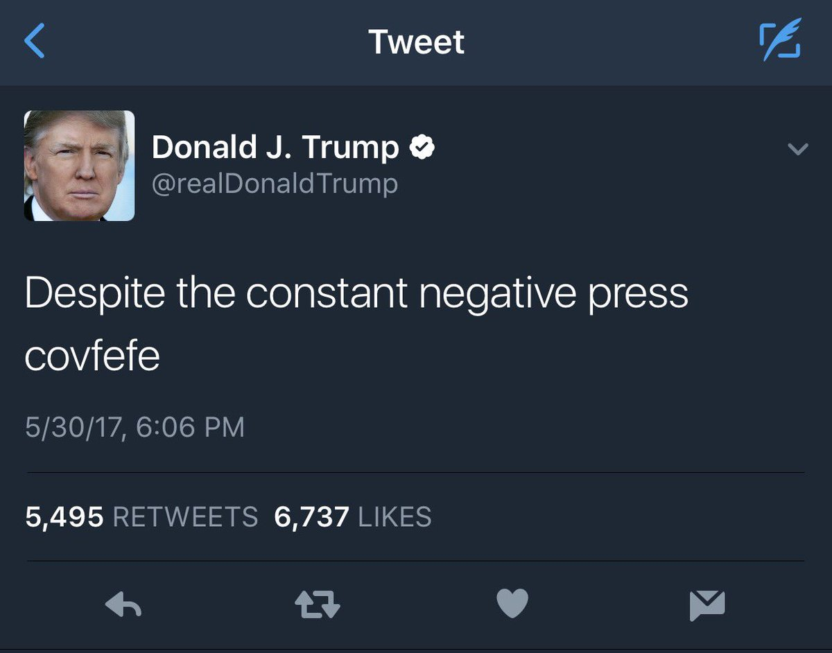 Witnessing the moment @realDonaldTrump truly became President of the United Stefufu. #covfefe https://t.co/qlnzLZMUXY