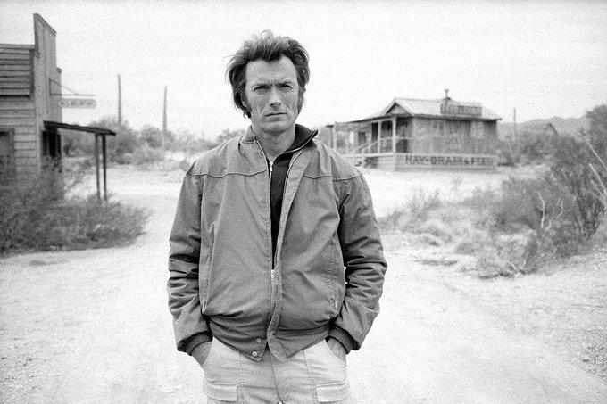 Happy Birthday Clint Eastwood! Here\s one on the set of Joe Kidd, 1972.