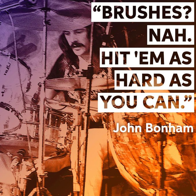Happy birthday to one of the greatest rock drummers of all time - John Bonham (aka Bonzo)!
