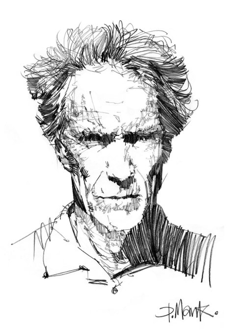 Happy Birthday Clint Eastwood 87 today! My Pencil drawing.