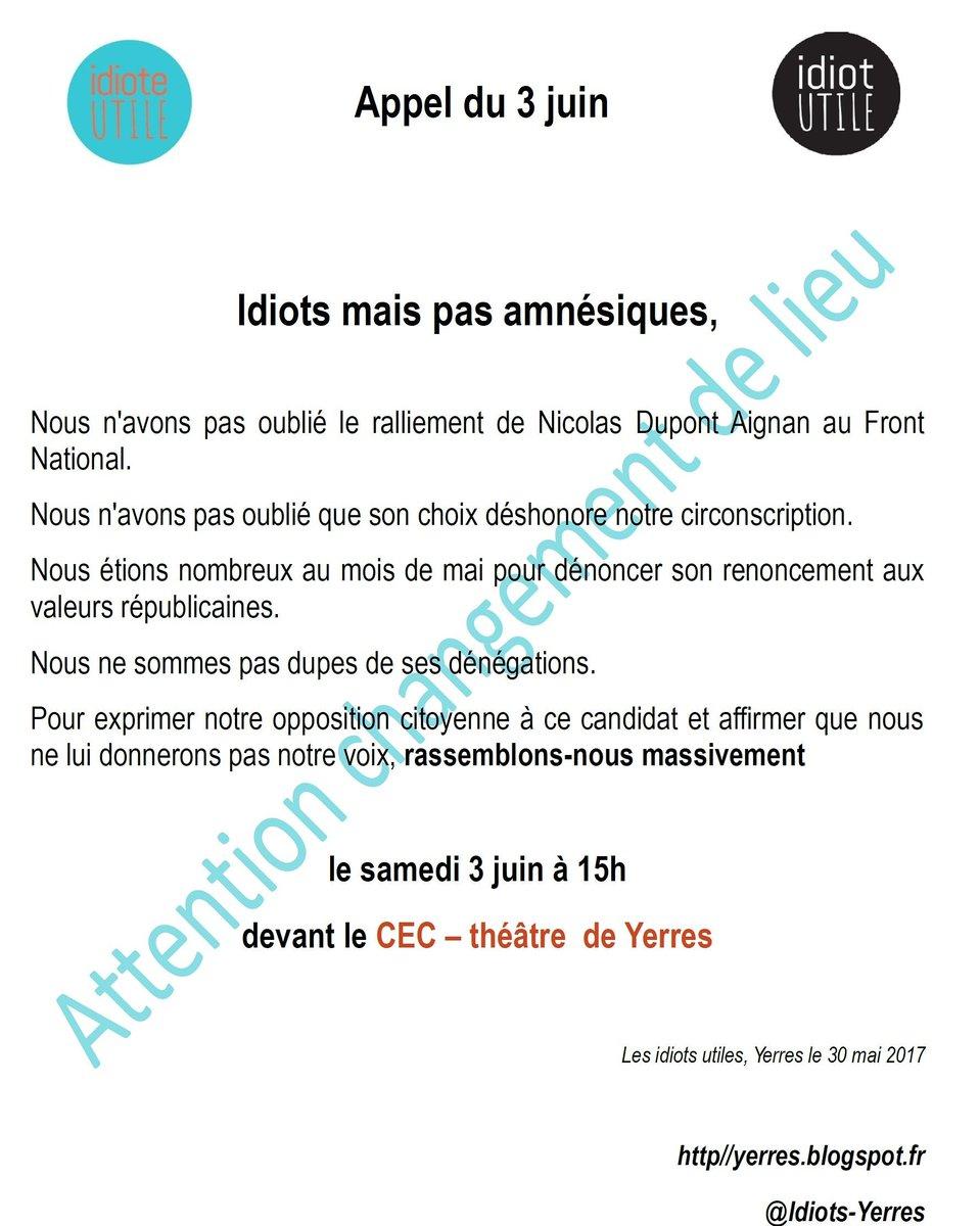 Les @Idiots_Yerres arrivent! #circo9108 #Dupont-Aignan <br>http://pic.twitter.com/evH1CWwrJJ