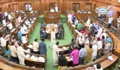 AAP MLAs behave like goons in Delhi Assembly, beat up, drag Kapil Mishra