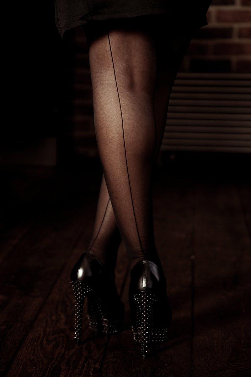 Femdom ankles knees