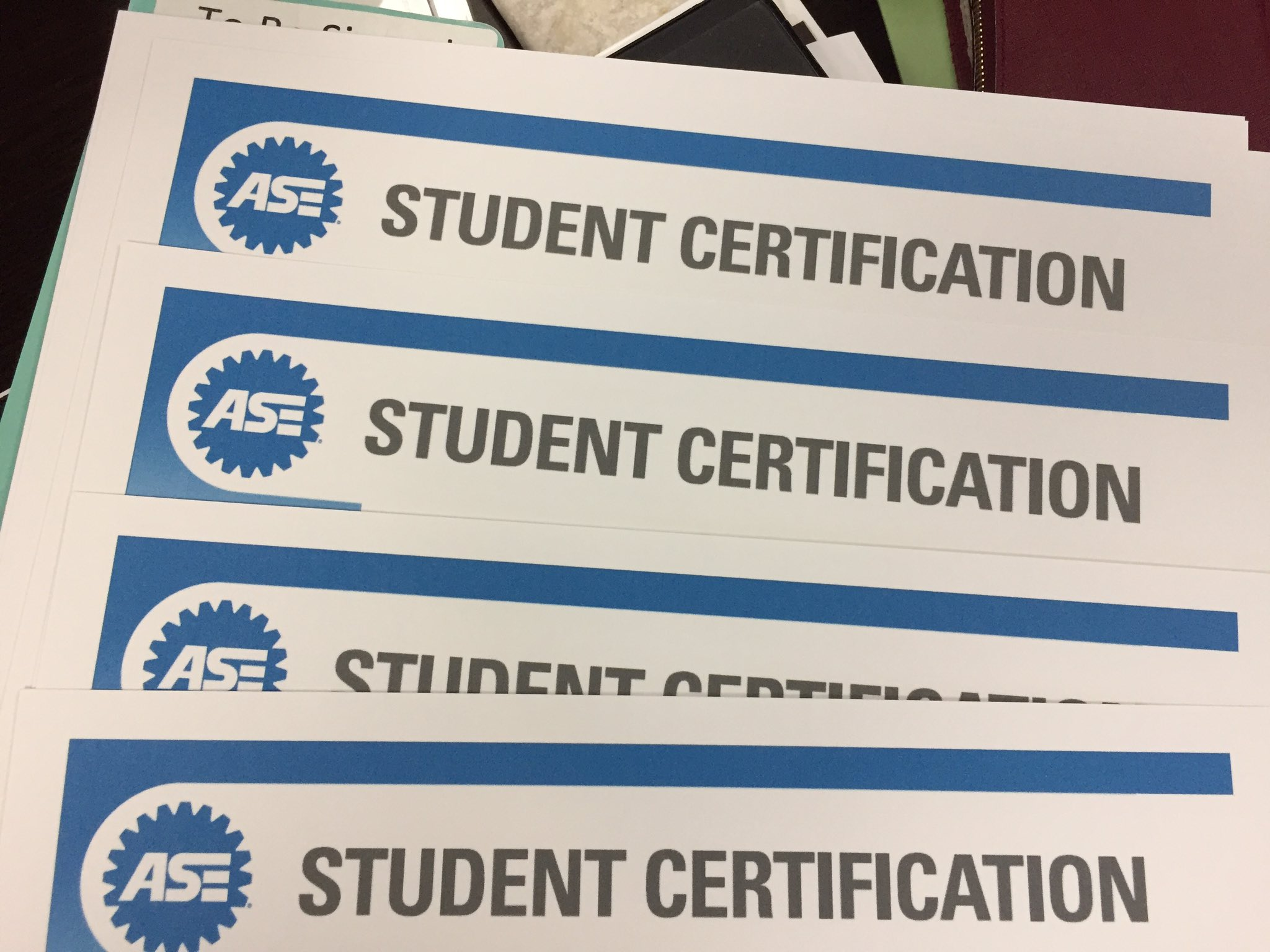 Elegant pics of ase student certification business cards and resume plano shs on congrats to our 18 students receiving ase xflitez Images