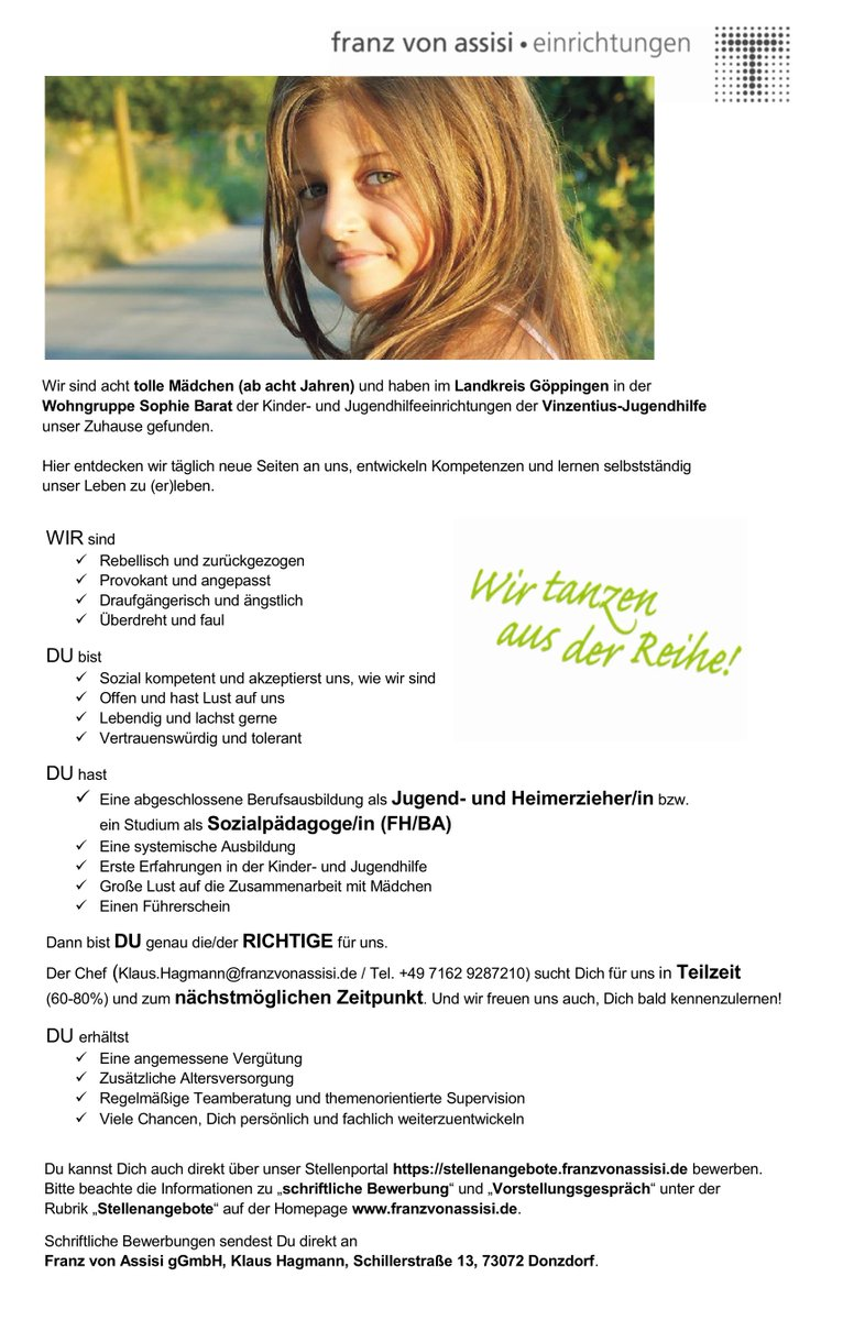Die franzvonassisi.de Einrichtungen suchen #erzieher #heilerziehungspfleger  #kinderundjugendpfleger #sozialpädagogen (m/w)  Teil-/Vollzeit.pic.twitter.com/ ...