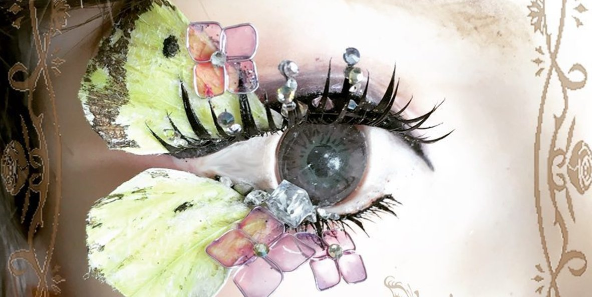 """Image result for These Bonkers """"Deco Lashes"""" Are Fine Art for Your Face"""