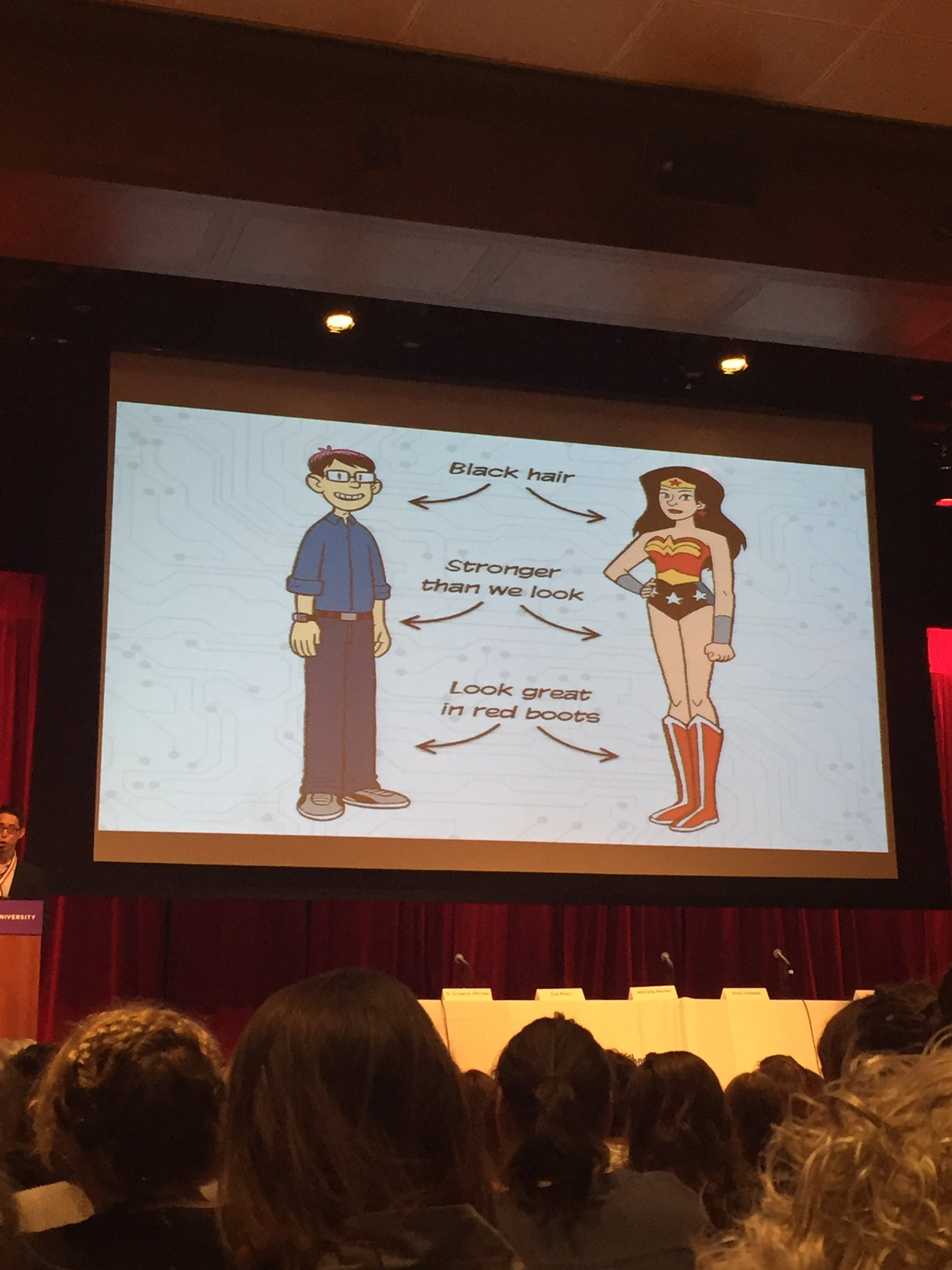 The similarities between Gene Yang and Wonder Woman #sljdod17 https://t.co/k5uaYWOWpu